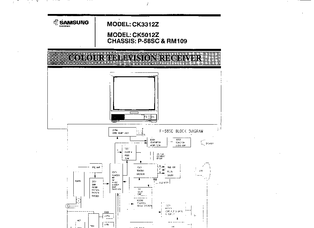 SAMSUNG CK-5012,3312 Service Manual download, schematics