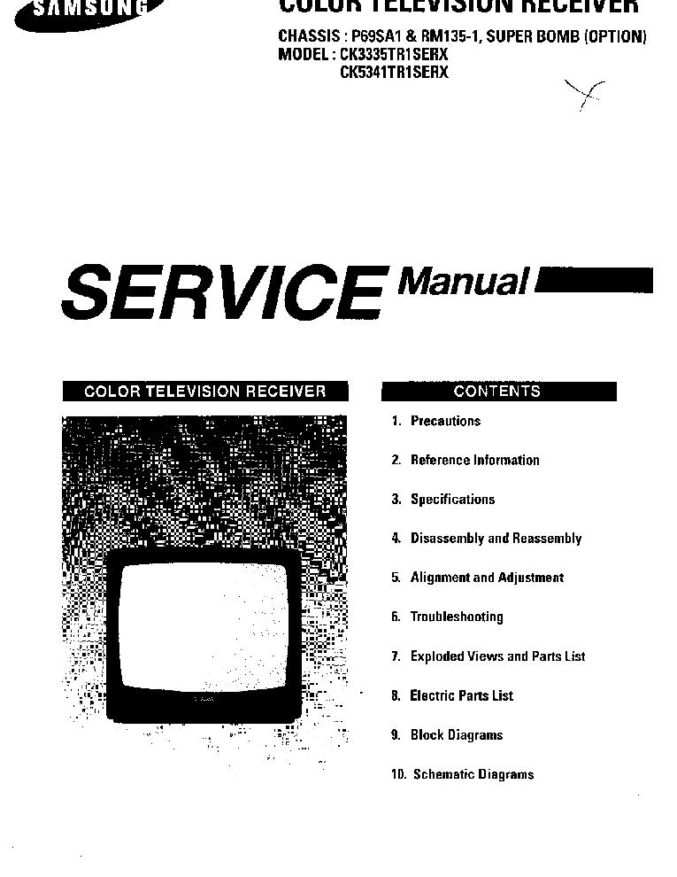 SAMSUNG CK3335 5341TR1SERX CH P69SA1 Service Manual