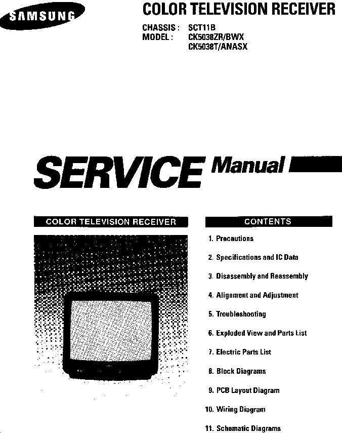 SAMSUNG CK5038ZR CK5038T CH SCT11B SM Service Manual