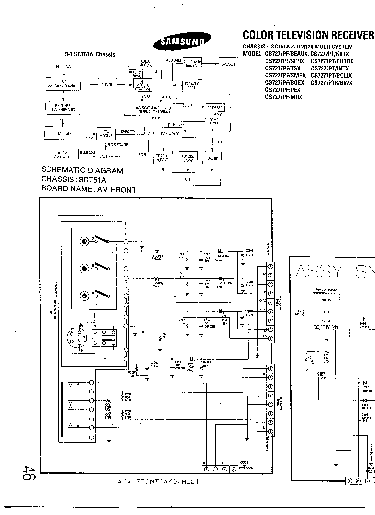 SAMSUNG CS-7277 Service Manual download, schematics