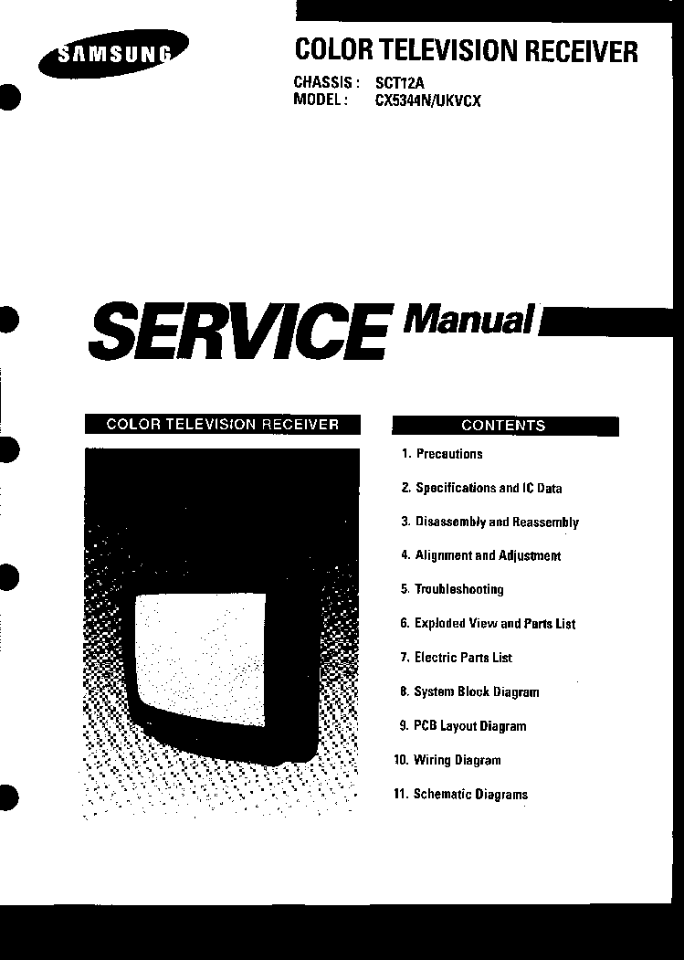 SAMSUNG K15A CHASSIS CT5038G6X TV SM Service Manual free