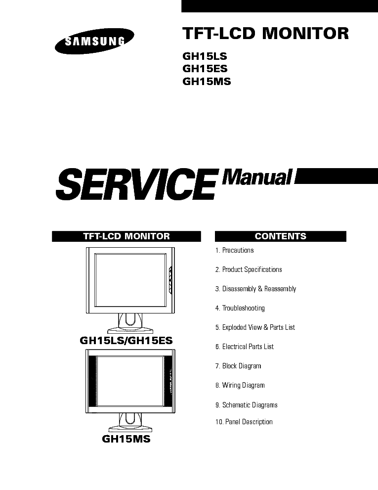SAMSUNG LCD TV LE27T51B Service Manual download