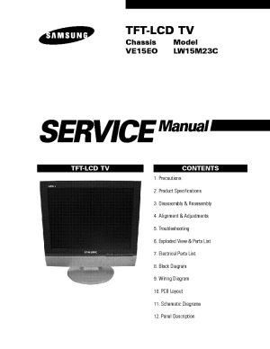 SAMSUNG LCDTVLW15M23CP VE15EO CHASSIS Service Manual