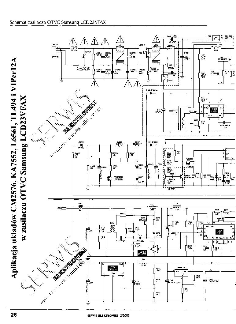 SAMSUNG LCD23VFAX Service Manual download, schematics