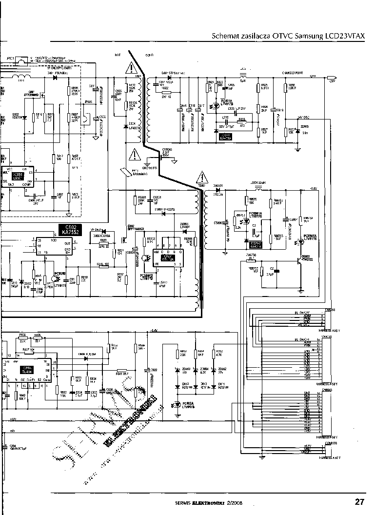 SAMSUNG LCD23VFAX Service Manual download, schematics