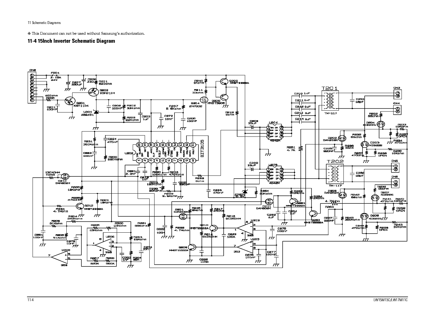 SAMSUNG LW15M13C SCH Service Manual download, schematics