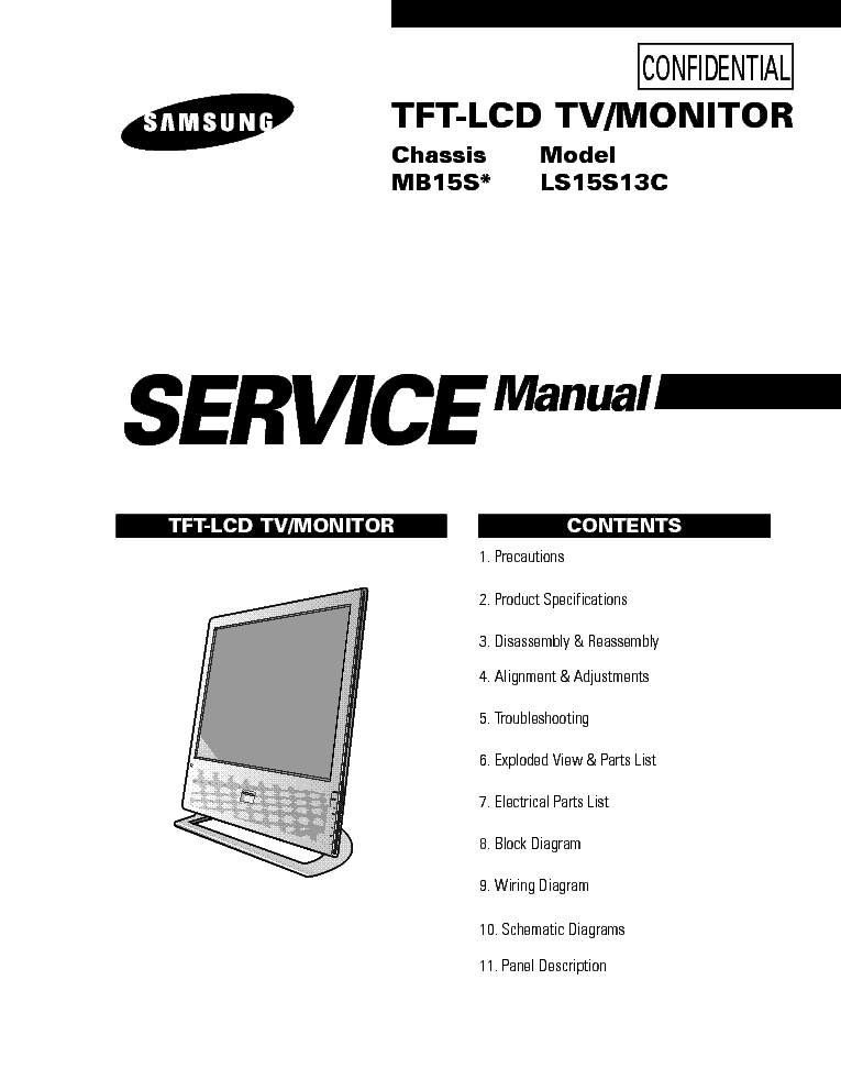 SAMSUNG MB15S CHASSIS LS15S13C LCDTV Service Manual