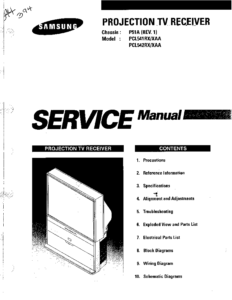 SAMSUNG PCL541,542RX CH P51A Service Manual download