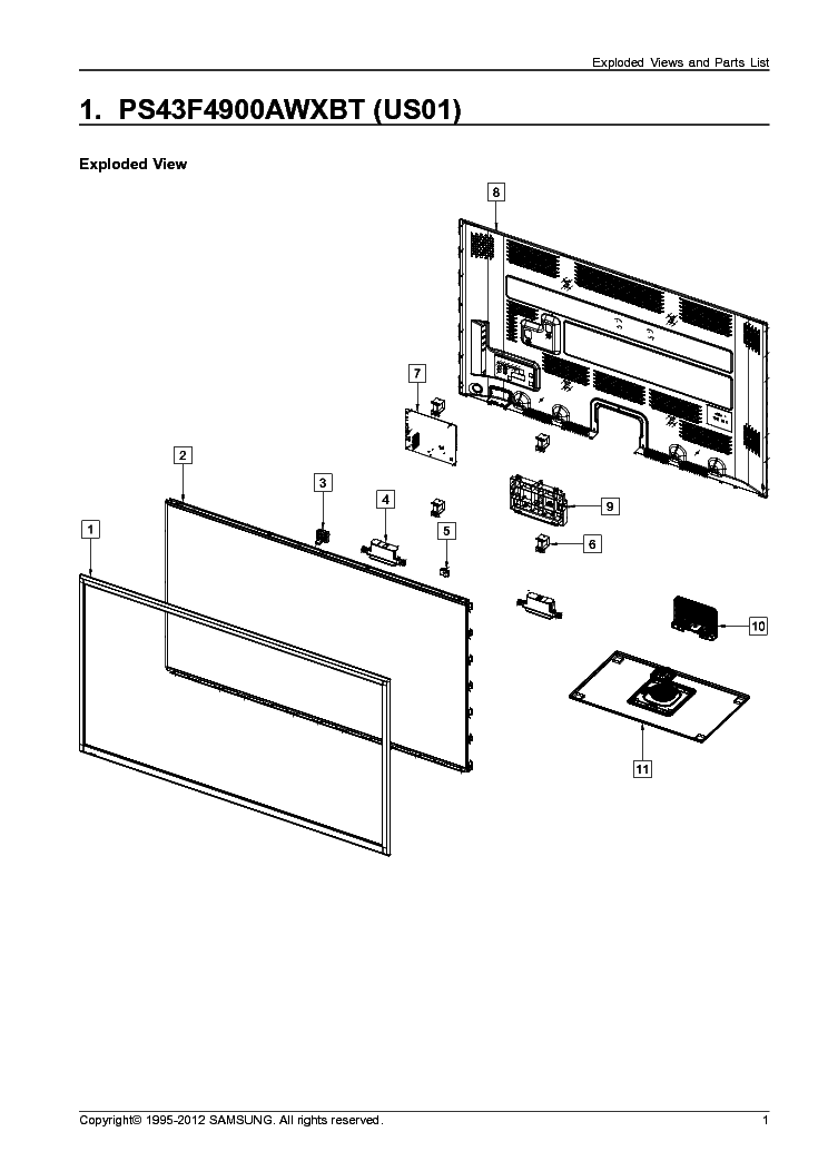 SAMSUNG P51A CHASSIS HCJ552WX PROJECTION Service Manual