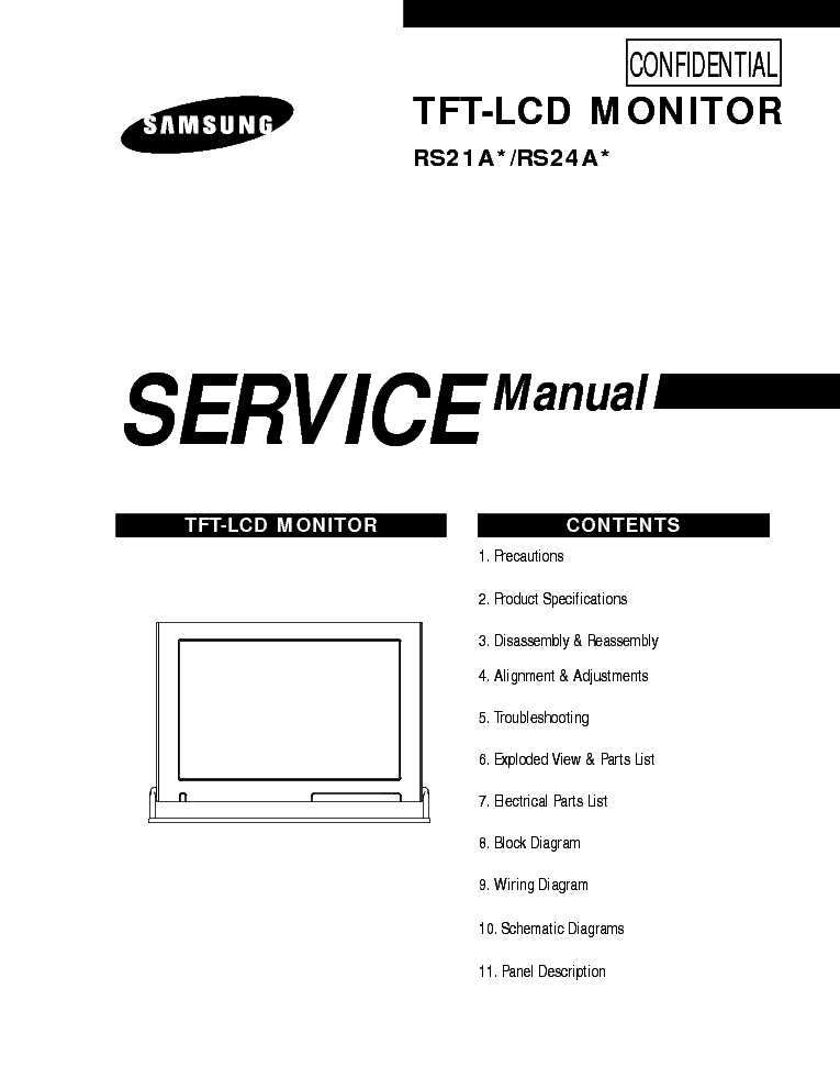 SAMSUNG RS21A CHASSIS LW24R15WX LCDTV Service Manual