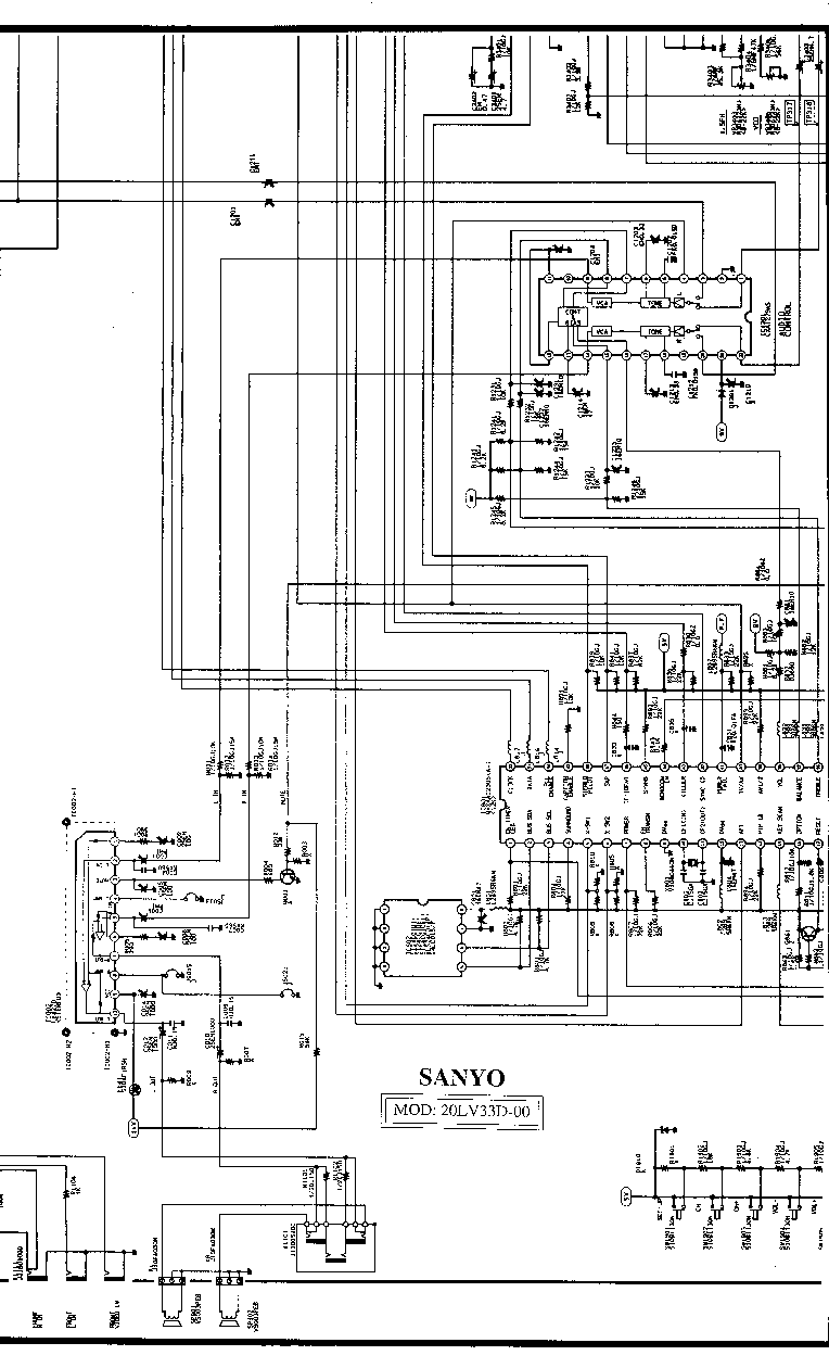 SANYO CTP-3771 SCH Service Manual download, schematics