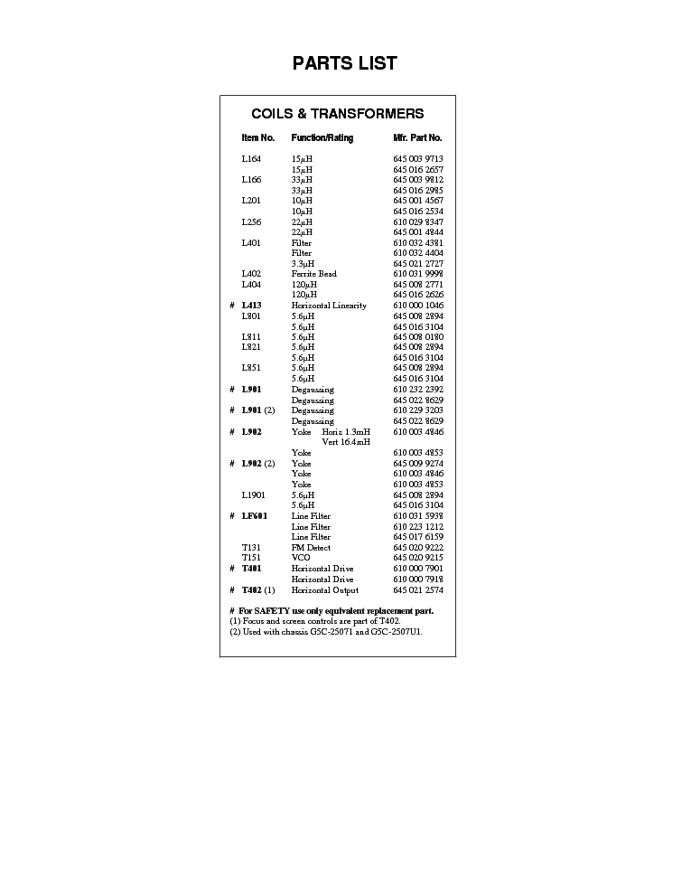 SANYO AVM-2507 DS25730 CHASIS-G5C-25070 G5C-25071 2507