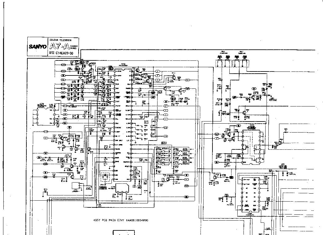 SANYO CE-14MT4-B 14MT4SL-B CHASSIS EC8-A SM NO-SCH Service