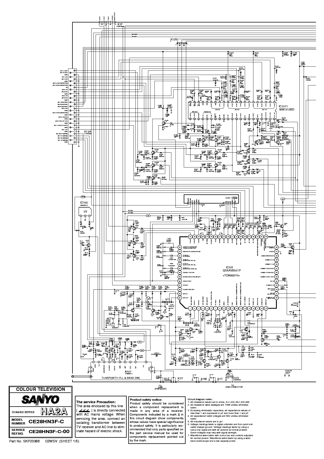 SANYO 2021 CHASSIS Service Manual download, schematics