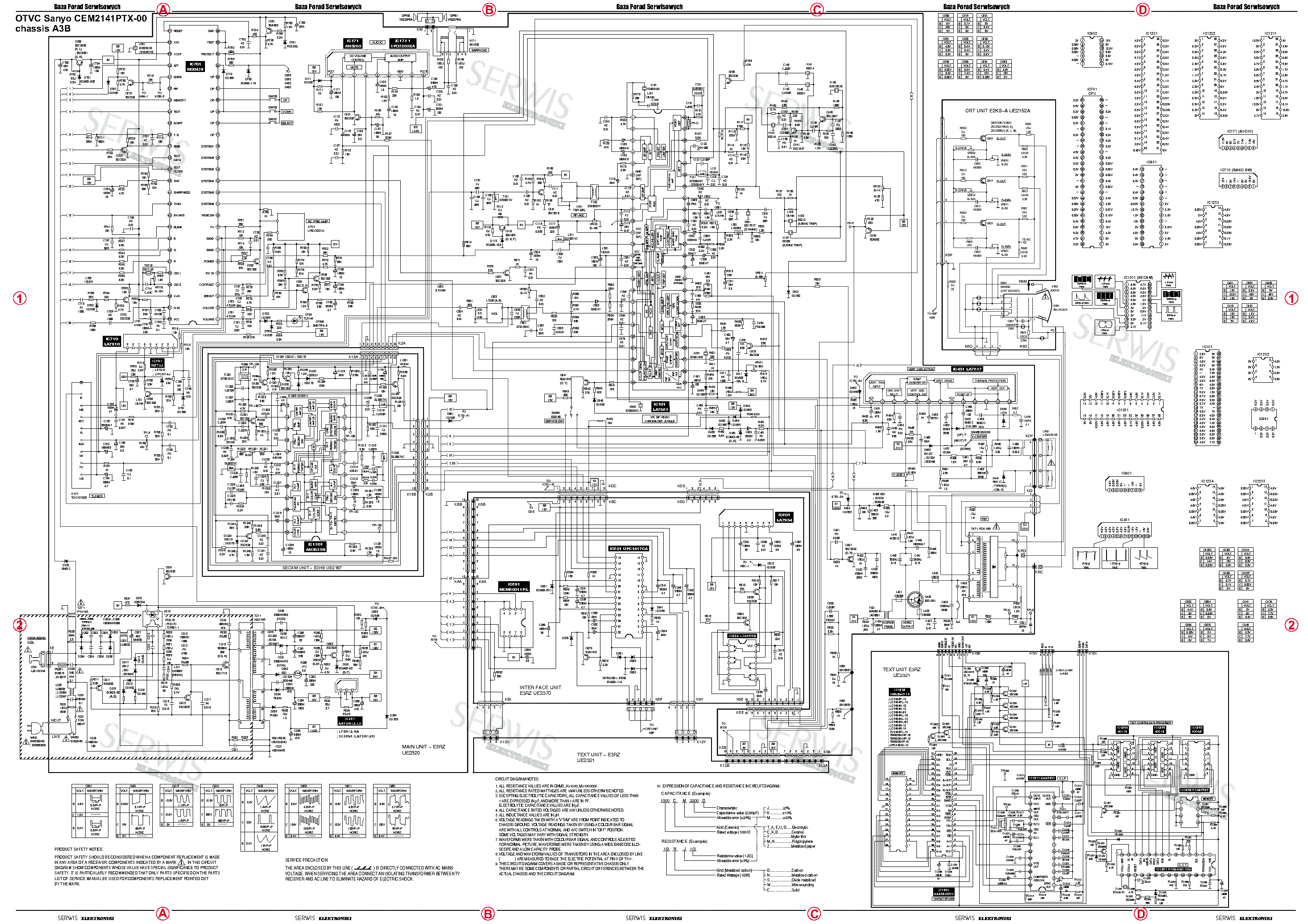 SANYO DS25630 Service Manual download, schematics, eeprom
