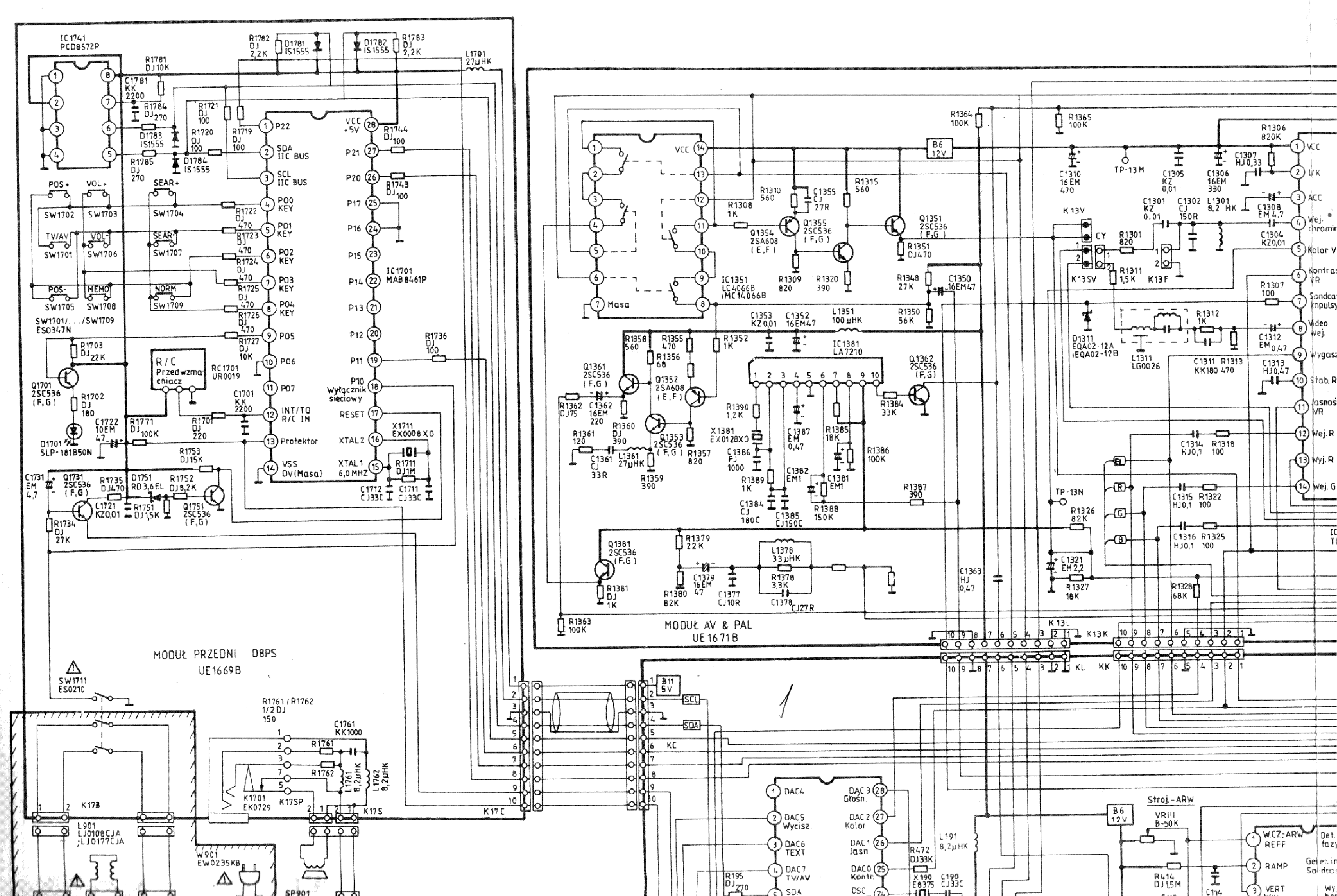 SANYO CEP2140 Service Manual download, schematics, eeprom