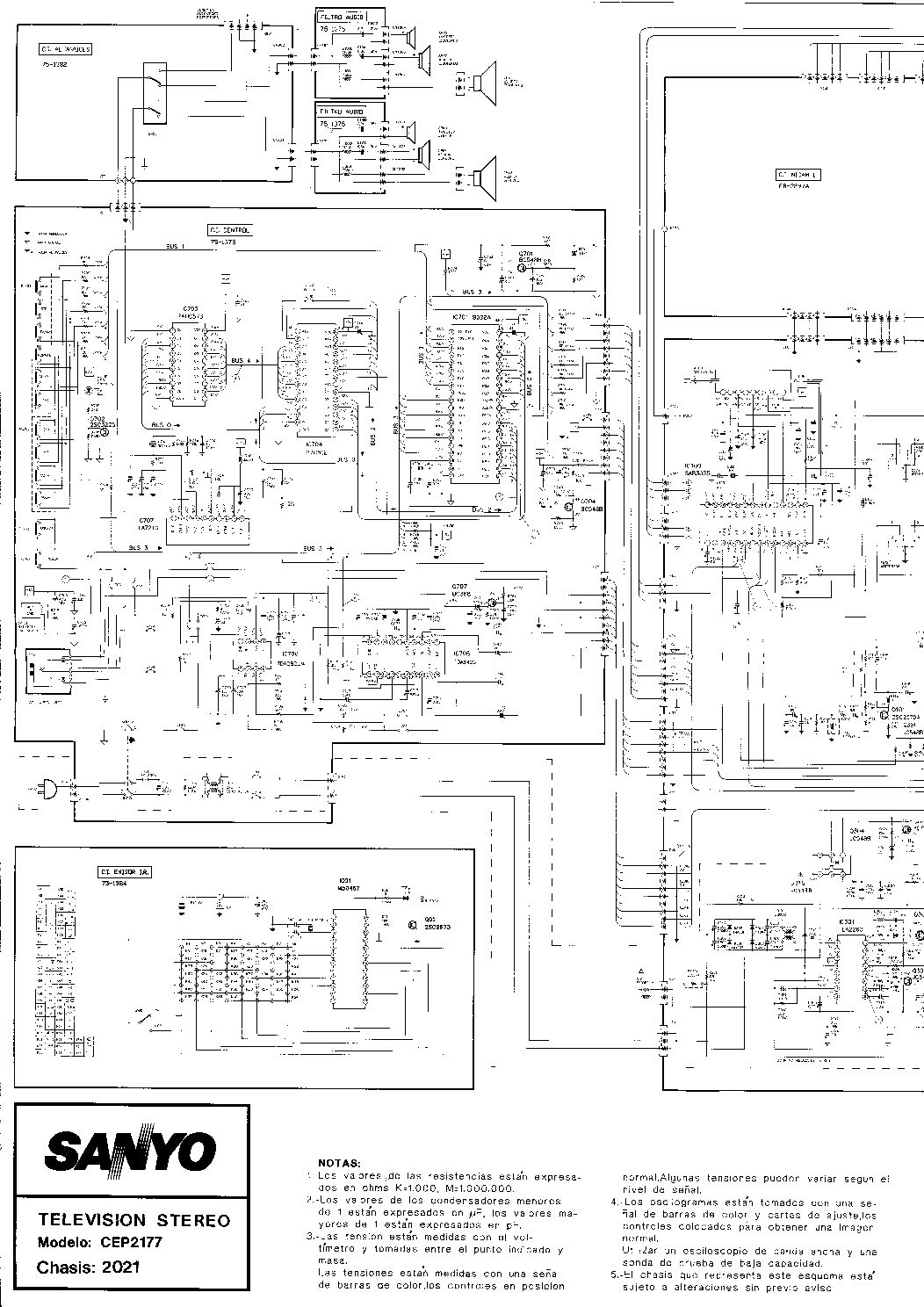 SANYO CEP2177 Service Manual download, schematics, eeprom