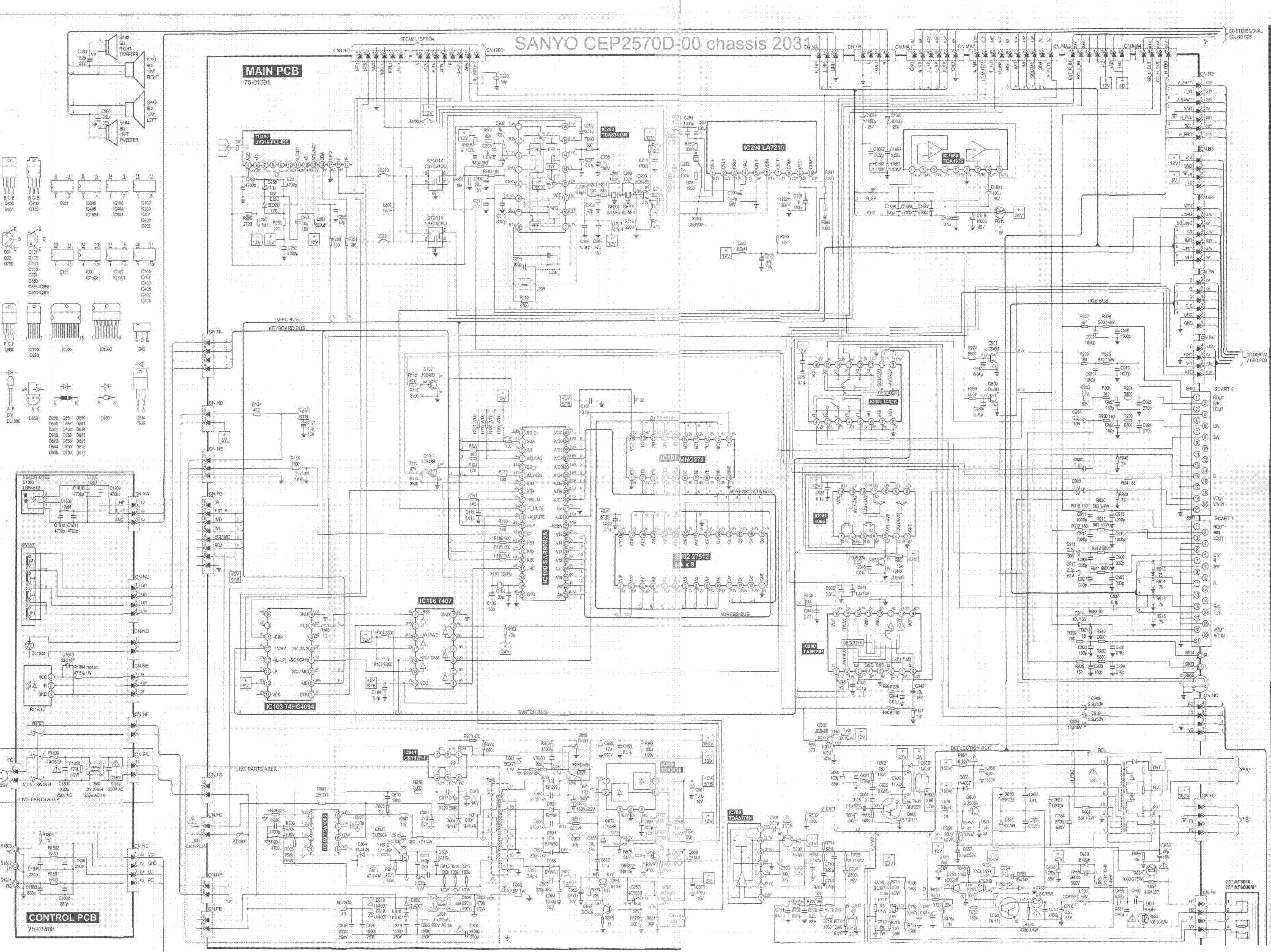 SANYO CEP2570D-00 Service Manual download, schematics