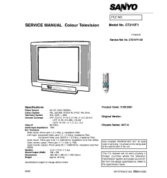 sanyo chassis ac7 a ct21vf1 service manual 1st page  [ 911 x 1290 Pixel ]