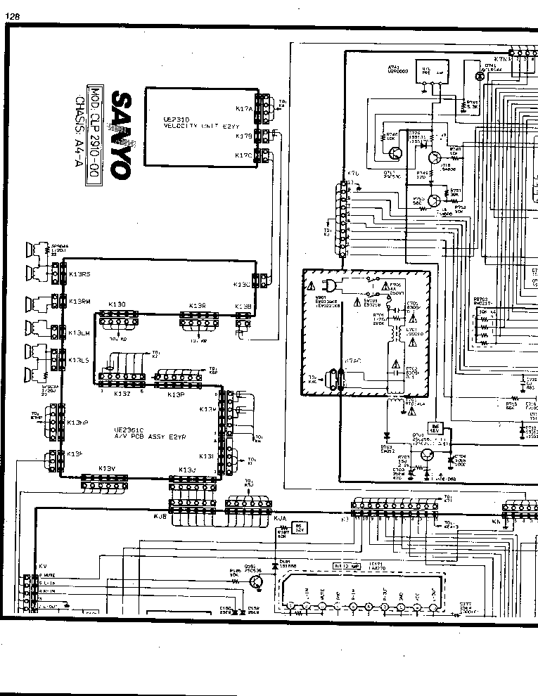 SANYO CLP-2910 CHASSIS A4-4 Service Manual download