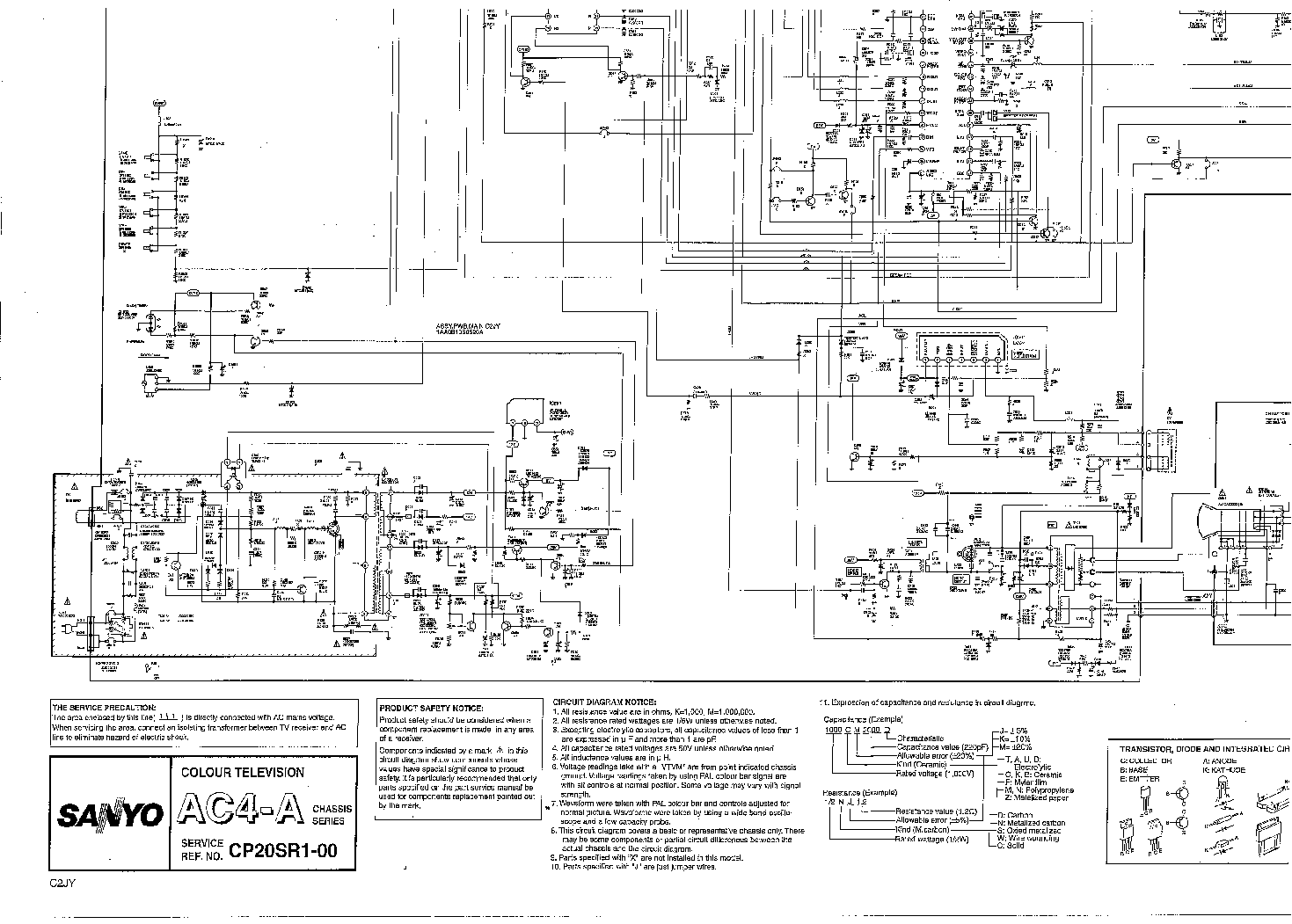 SANYO CP20SR1-00-AC4 Service Manual download, schematics