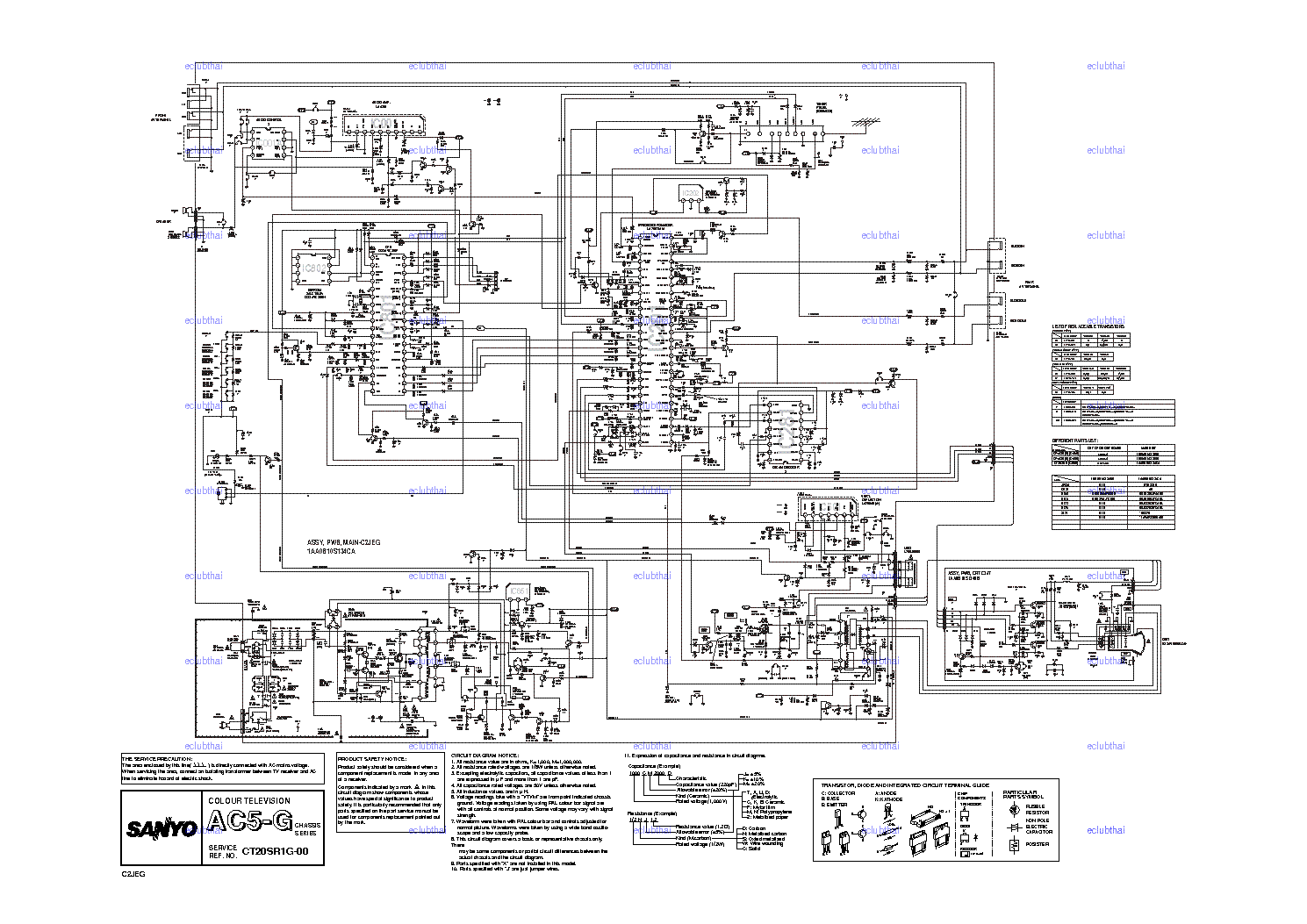 SANYO CE21A2-C Service Manual download, schematics, eeprom