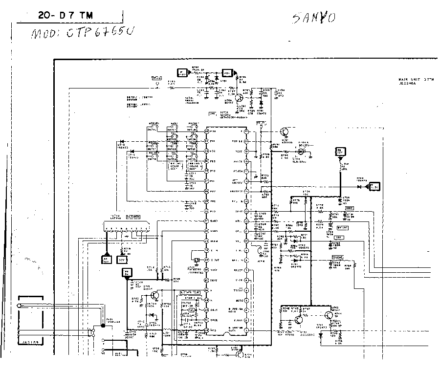 SANYO CTP-6765 Service Manual download, schematics, eeprom