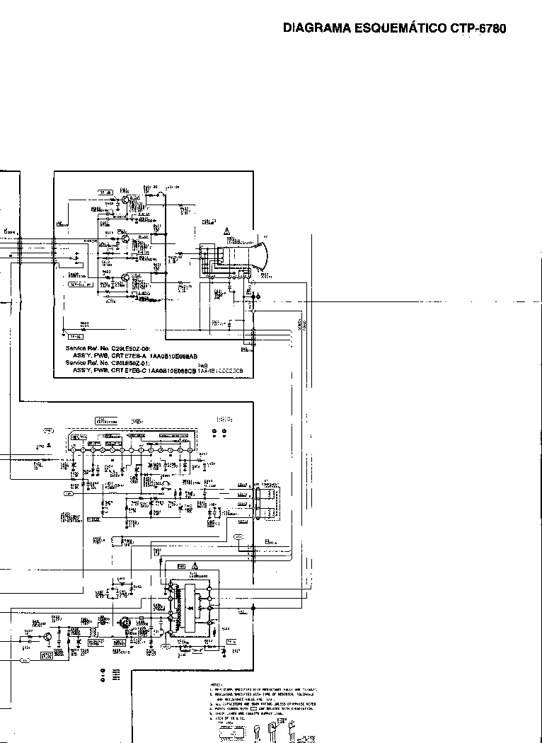 SANYO CTP-6780 Service Manual download, schematics, eeprom