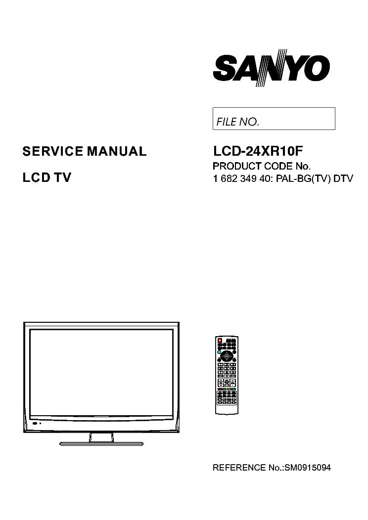 SANYO LCD-24XR10F Service Manual download, schematics