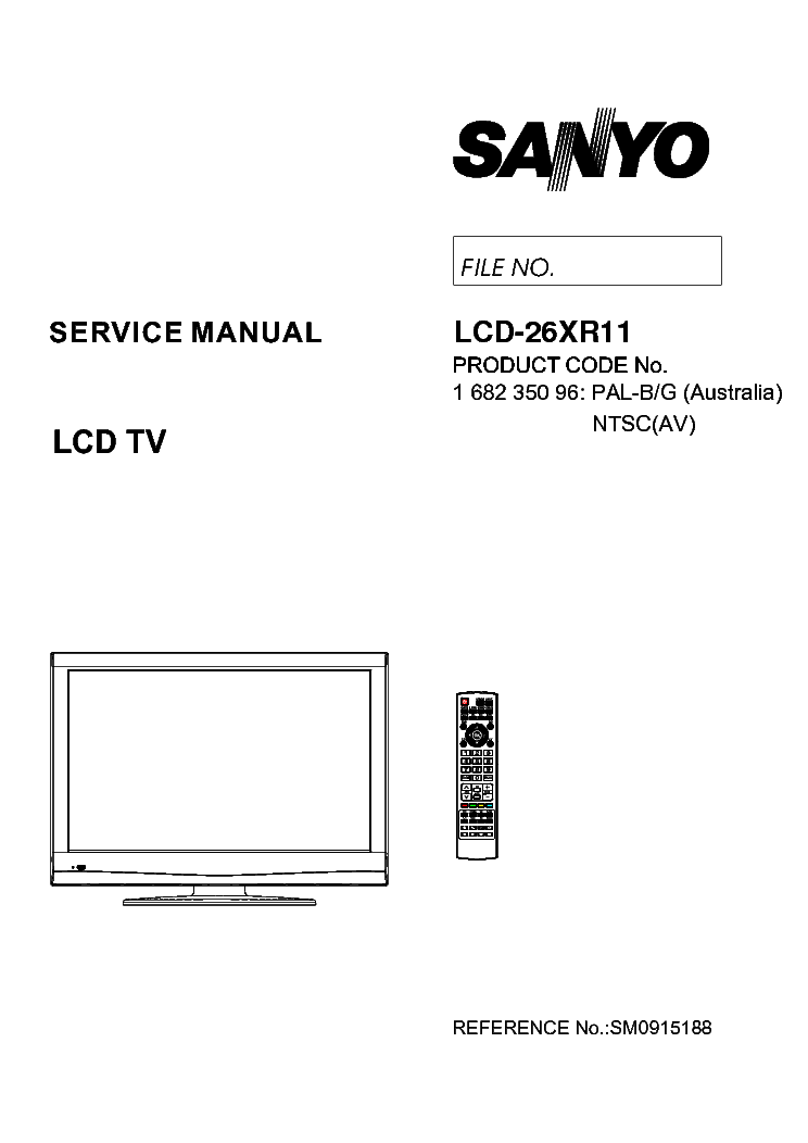 SANYO C2558N-C2858N-C2556N-C2856N Service Manual download