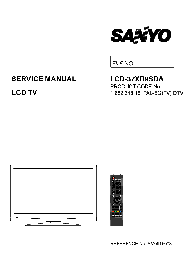 SANYO LCD-37XR9SDA SM Service Manual download, schematics