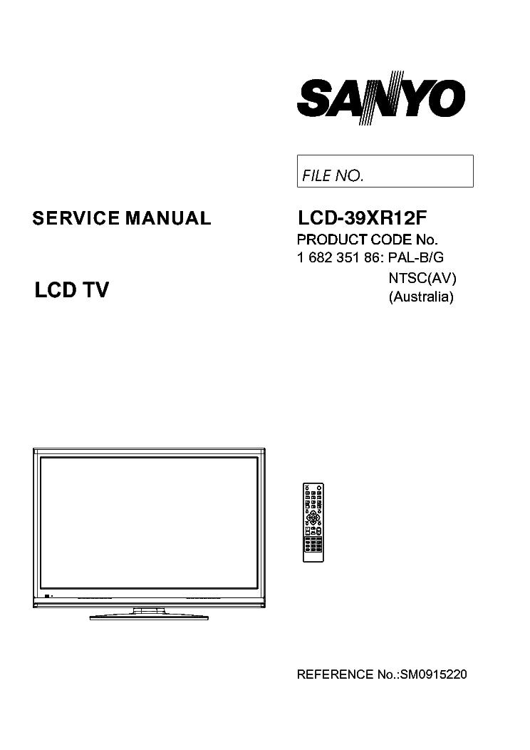 SANYO LCD-32CA8Z LCD-37CA8Z LCD-42CA8Z LCD SM Service
