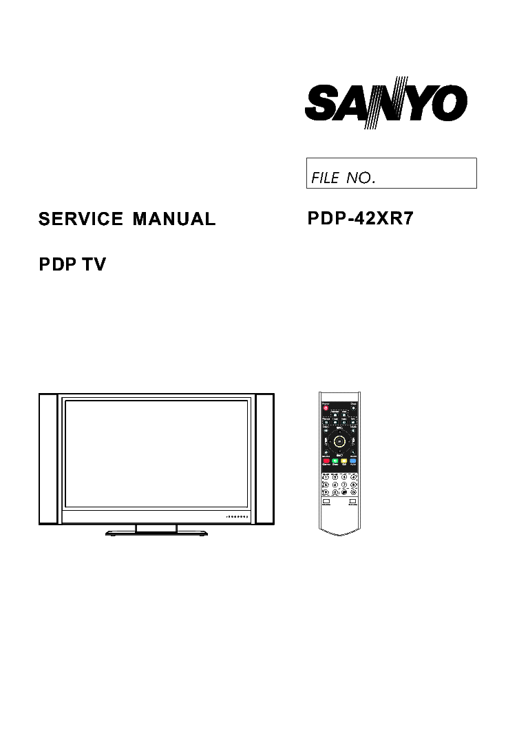 SANYO PDP-42XR7 SM Service Manual download, schematics
