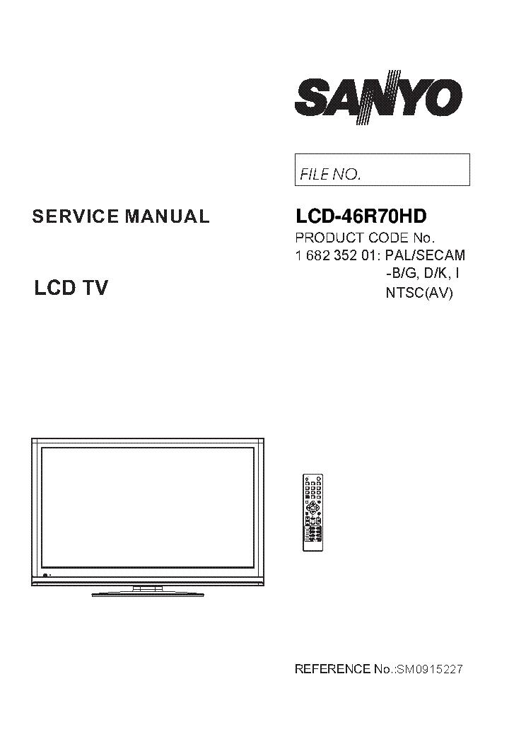 SANYO CE32WN4F-C CH EB6A SCH Service Manual download