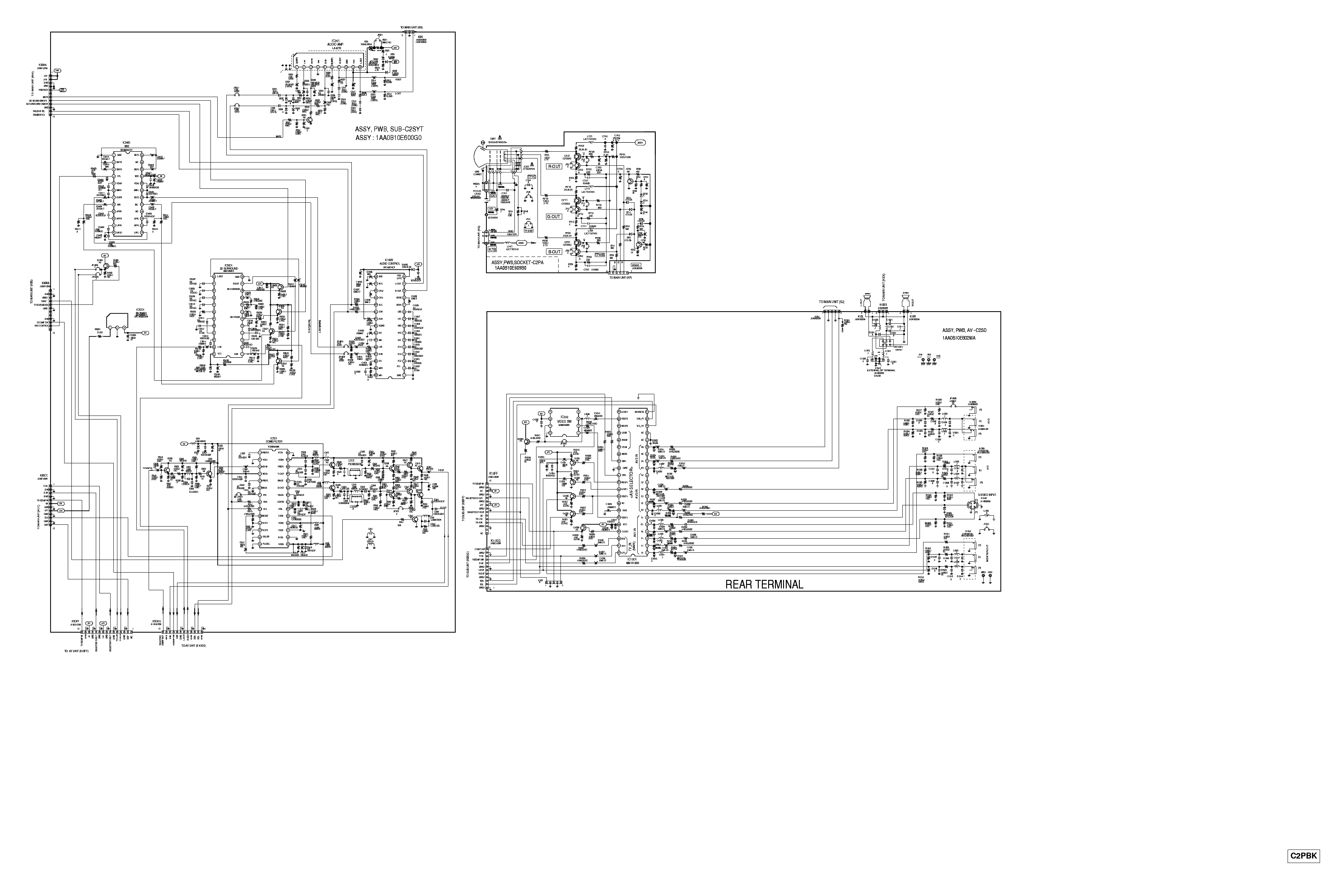 SANYO TV FA1 CHASSIS 1 Service Manual download, schematics
