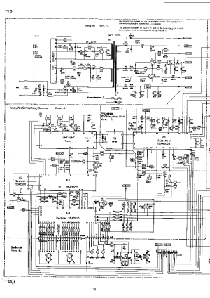SCHNEIDER CHASSIS TV51 SCHEMATIC DIAGRAM Service Manual