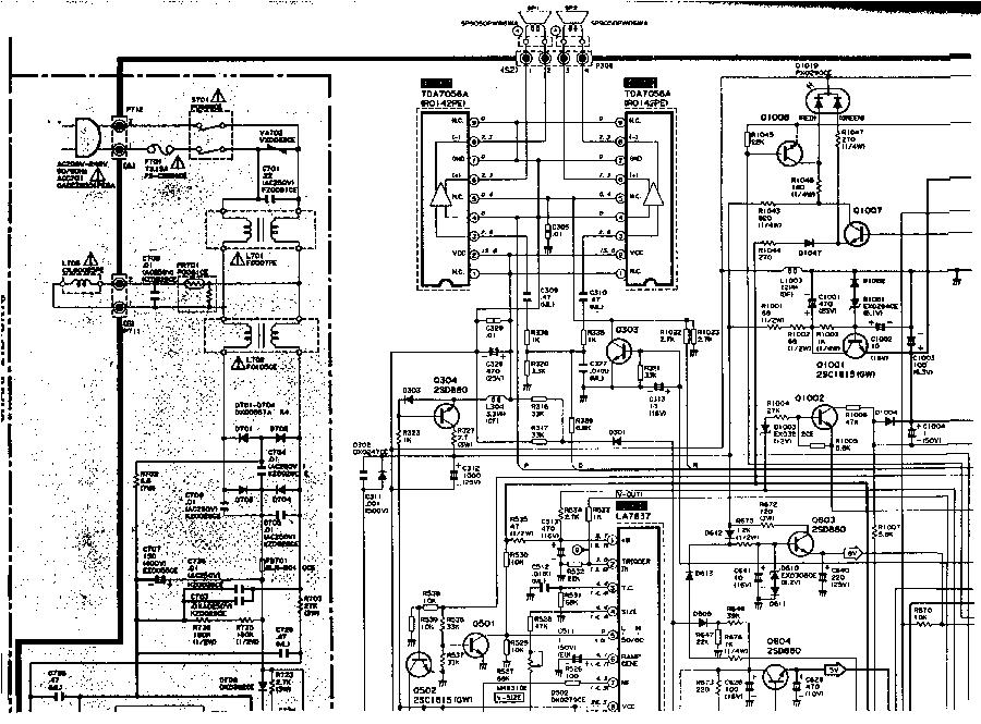 SHARP 21DCK1-A- Service Manual download, schematics