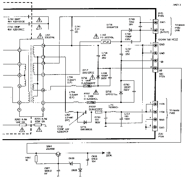 SHARP 21FFN1 Service Manual download, schematics, eeprom