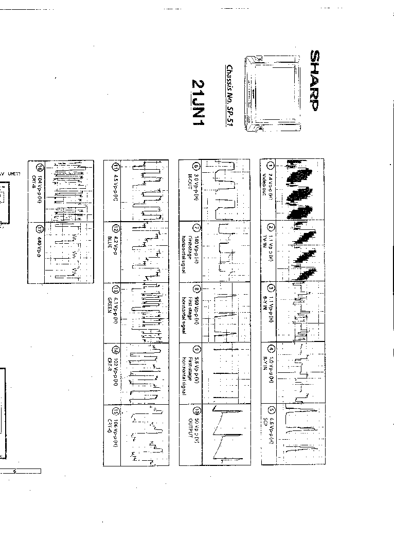 SHARP 21JN1 Service Manual download, schematics, eeprom