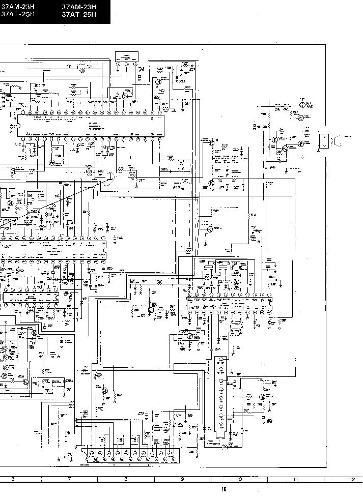SHARP 37AM23H TV D Service Manual download, schematics
