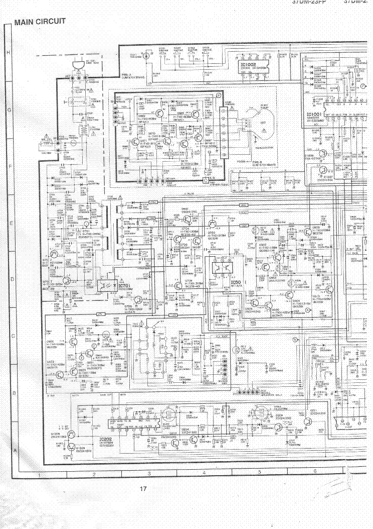 SHARP 37DM23FP TV D Service Manual download, schematics