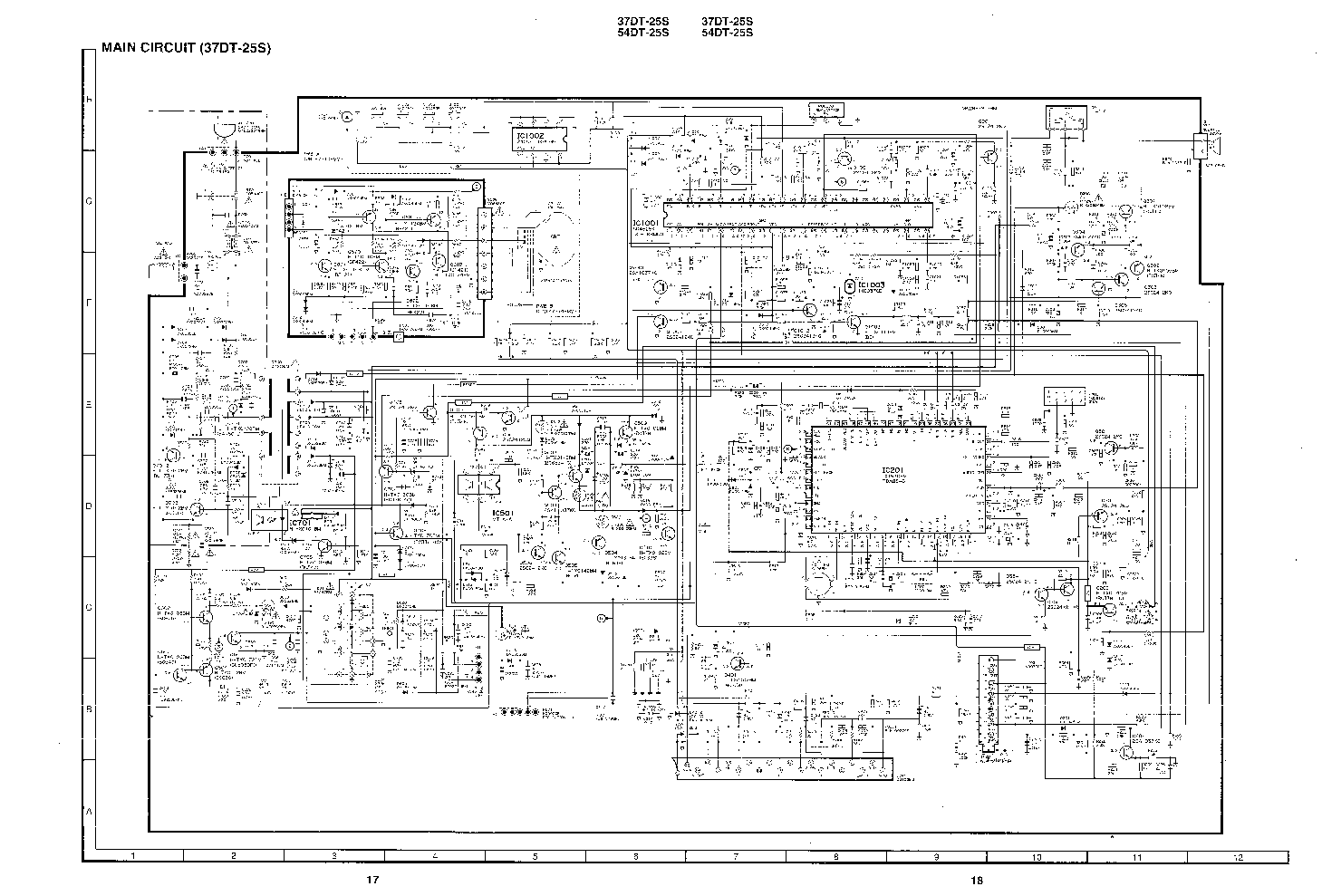SHARP 37DT25S TV D Service Manual download, schematics