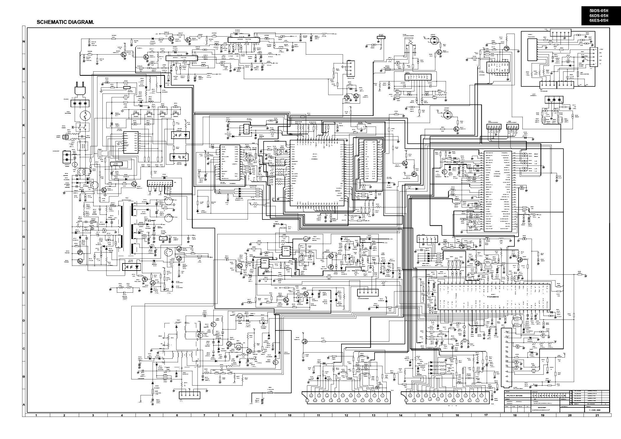 SHARP 59DS05 TV D Service Manual download, schematics