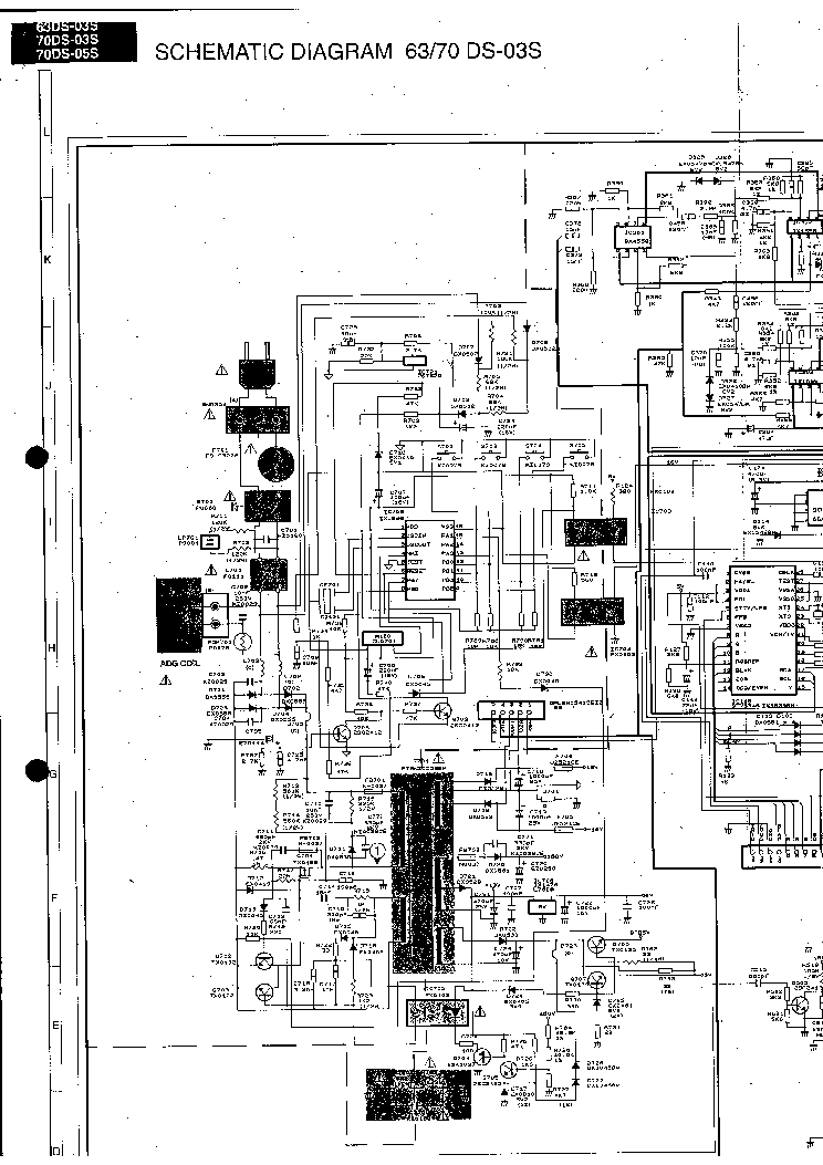 SHARP 70DS03 TV D Service Manual download, schematics
