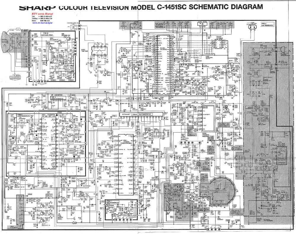 medium resolution of sharp c1451sc tv d service manual download schematics eeprom crt tv wiring diagram sharp