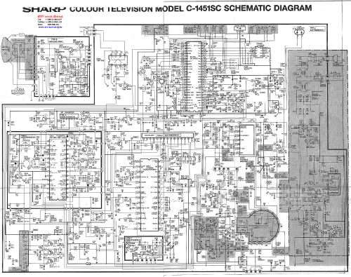 small resolution of sharp c1451sc tv d service manual download schematics eeprom crt tv wiring diagram sharp