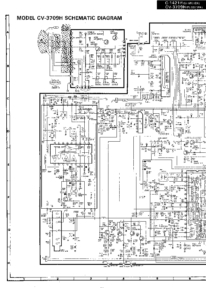 SHARP 21DCK1-A- Service Manual download, schematics