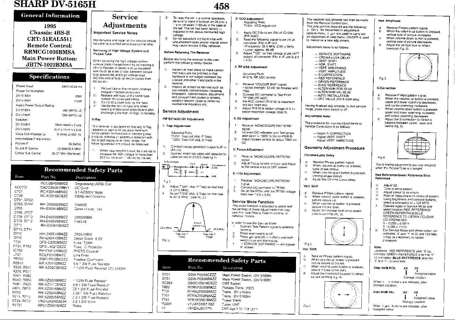 SHARP DV-5165H Service Manual download, schematics, eeprom