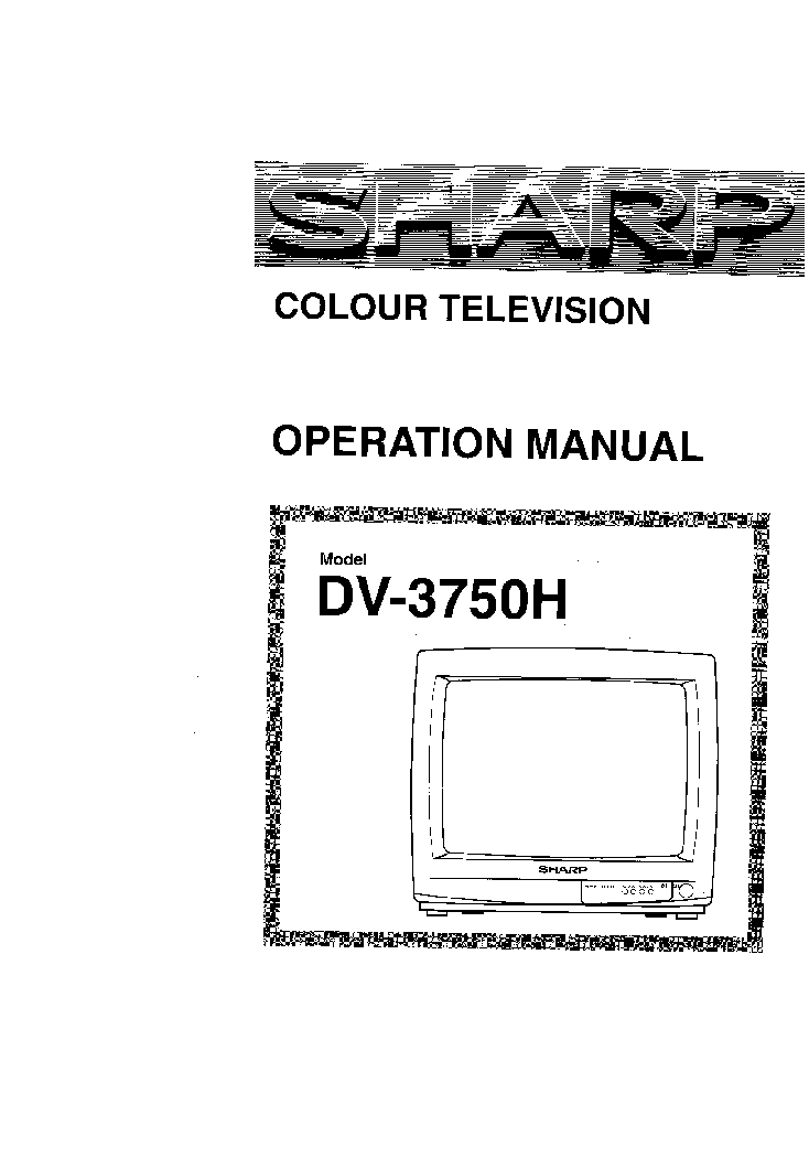 SHARP DV3750H TV SM Service Manual download, schematics