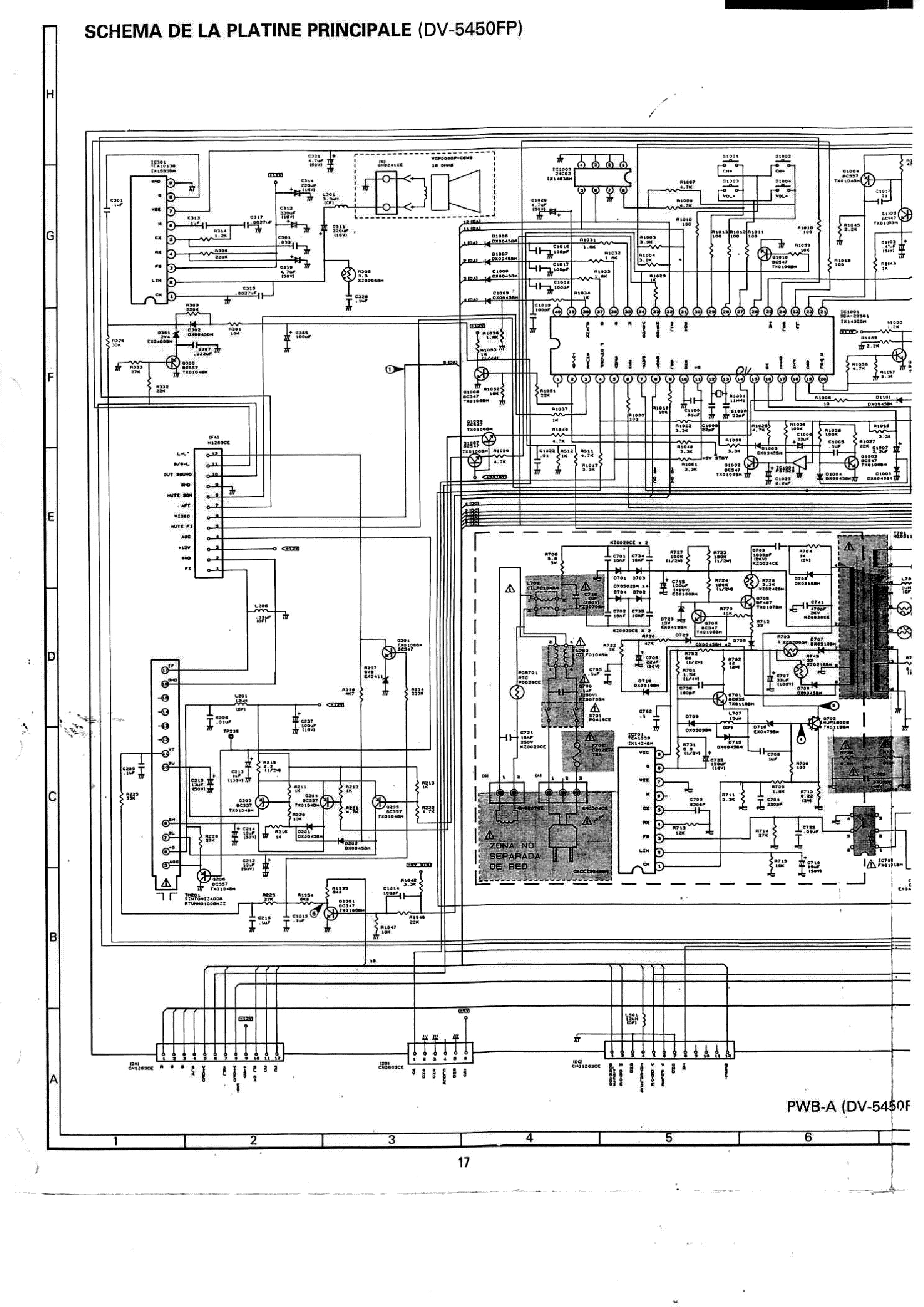 SHARP DV5450FP TV D Service Manual download, schematics